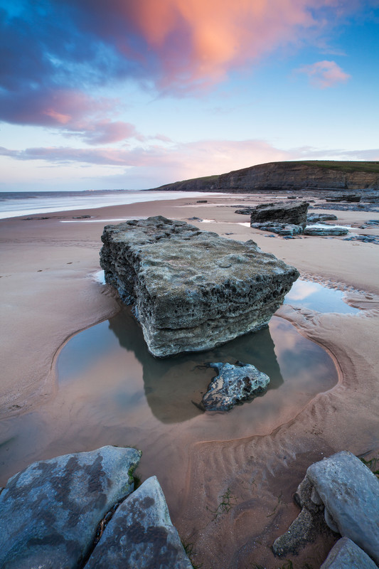 The heritage coastline of Glamorgan, Wales