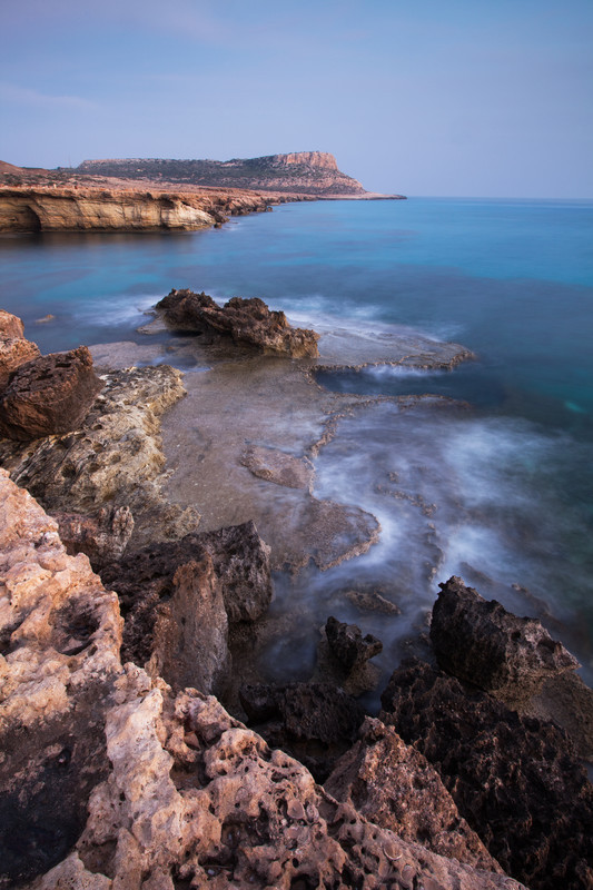 Landscape photography of the Cypriot coastline.