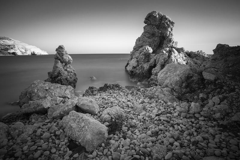 Rugged Rocks. - Monochrome