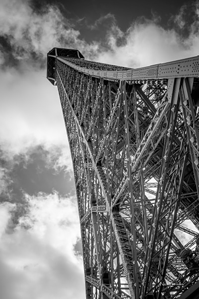 Looking Up the Eiffel Tower - Paris