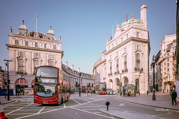 Piccadilly Circus Buses - Views of London
