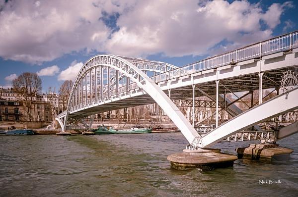 White Bridge on the Seine - Paris