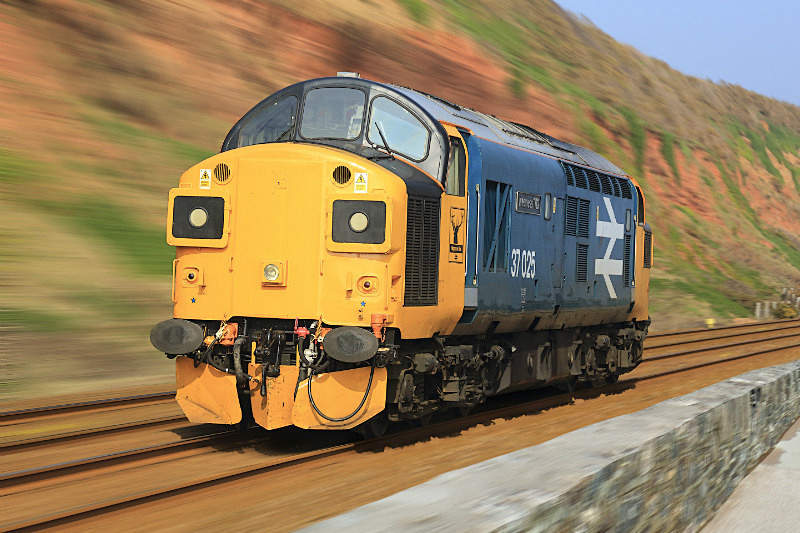 Class 37 025 'Inverness TMD' - Railway Artwork Prints