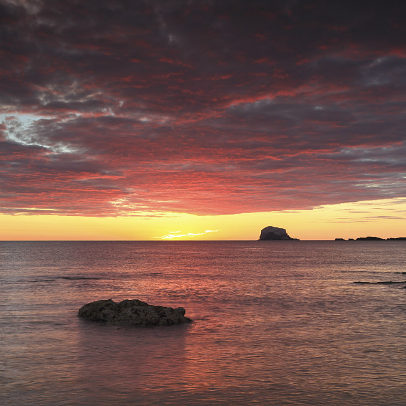 Dawn Sky - North Berwick - Coastal Prints