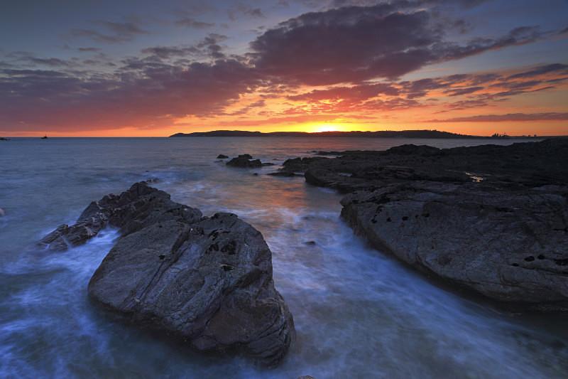 Heybrook Sundown - Coastal Prints