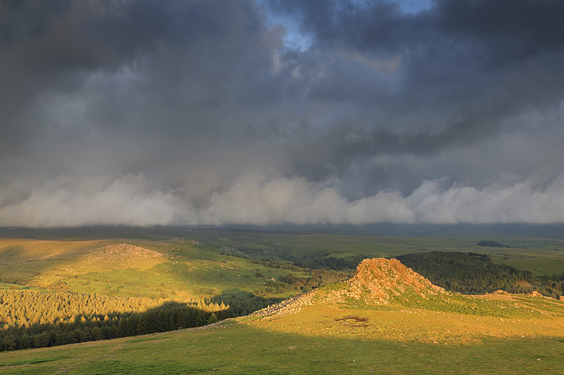 Leather Tor Sunset - Dartmoor Landscapes Prints