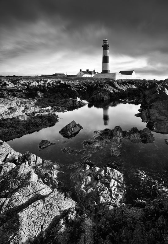 St Johns Point Lighthouse - Black & White