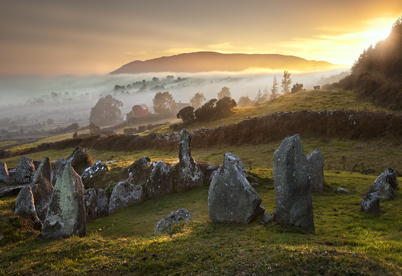 Ballymacdermot Court Tomb at Sunset, Co Armagh, N Ireland