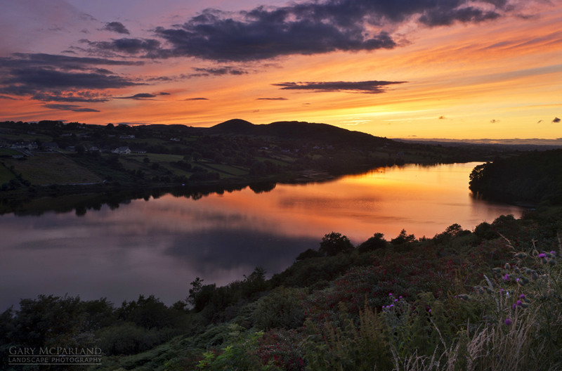 Camlough Lake Sunset - Co Armagh