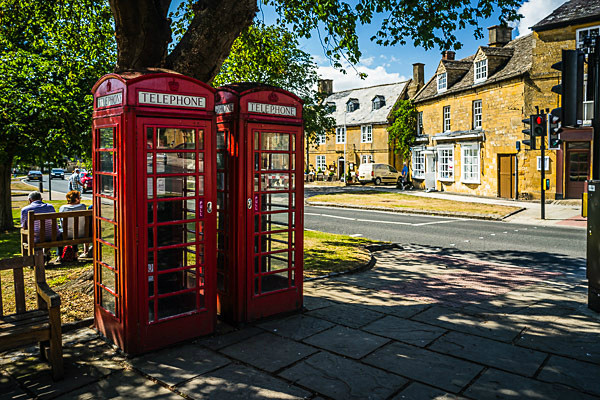 Broadway telephone boxes - The Cotswolds