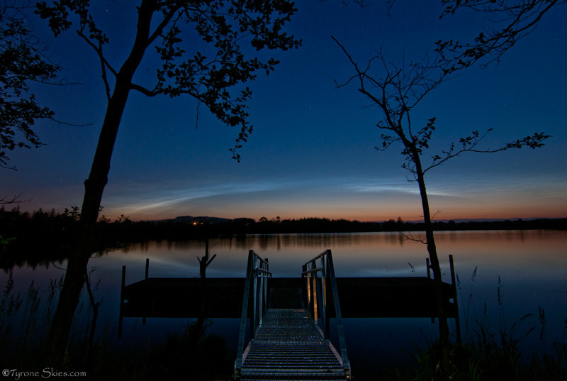 Noctilucent cloud arc at Loughmacrory - Noctilucent Clouds