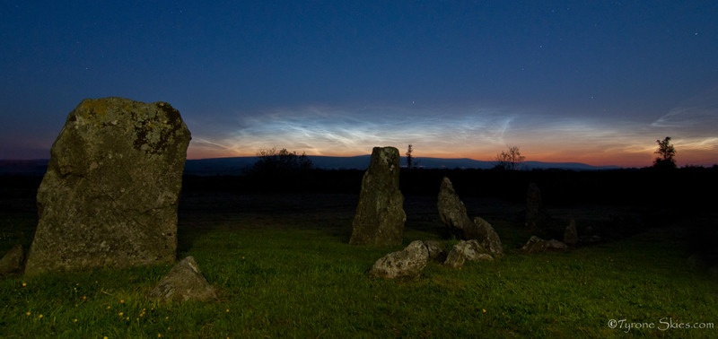 Beaghmore Noctilucent cloud panorama - Noctilucent Clouds