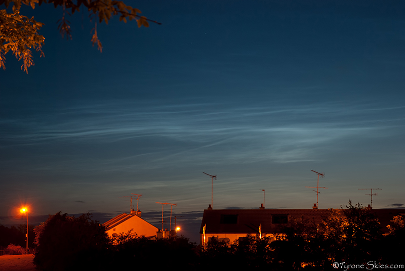 Noctilucent clouds from Omagh - Noctilucent Clouds
