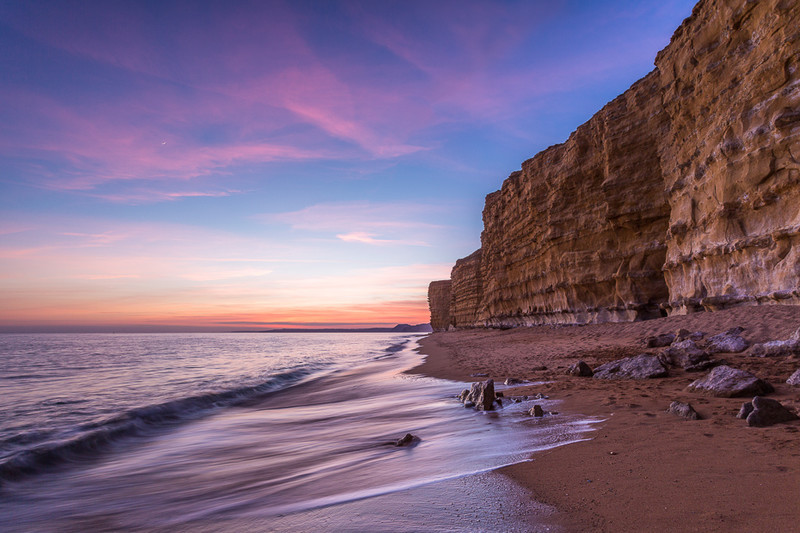 Burton Bradstock after Sunset - Dorset Seascapes