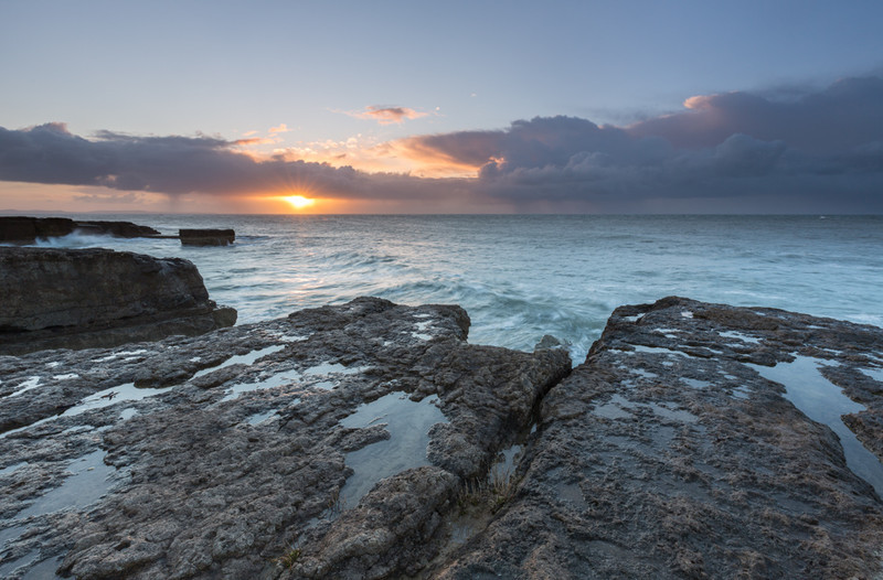 Portland Bill March Sunrise - Dorset Seascapes