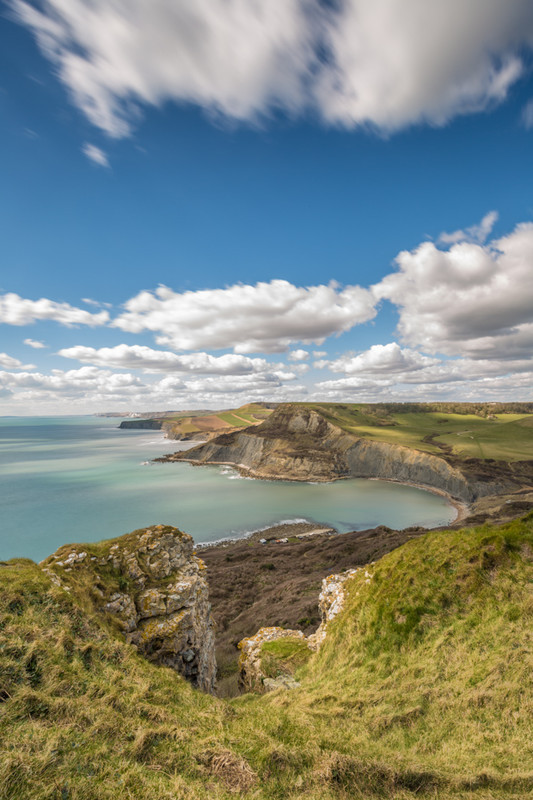 View towards Chapman's Pool near Emmetts Hill, St Aldhelm's Head - Dorset Seascapes