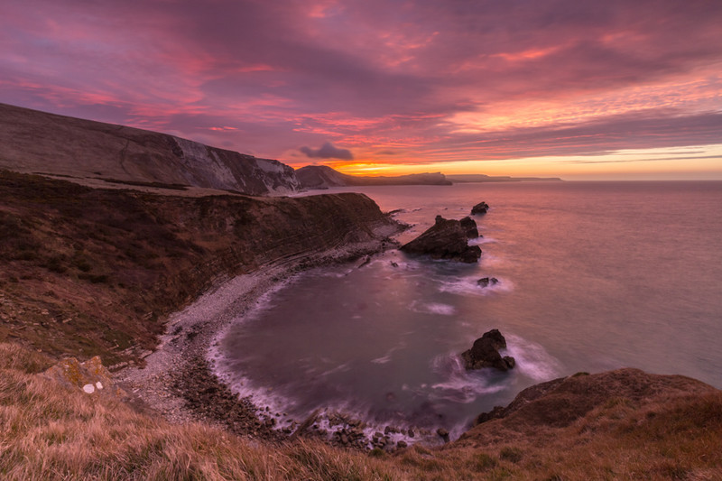 Dawn over Mupe Bay, Dorset - Dorset Seascapes
