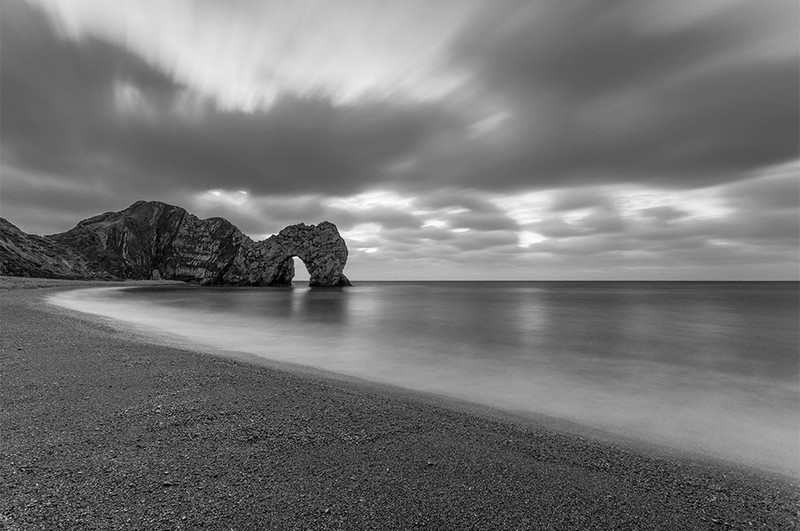 Durdle Door Monochrome - Black & White Scenic