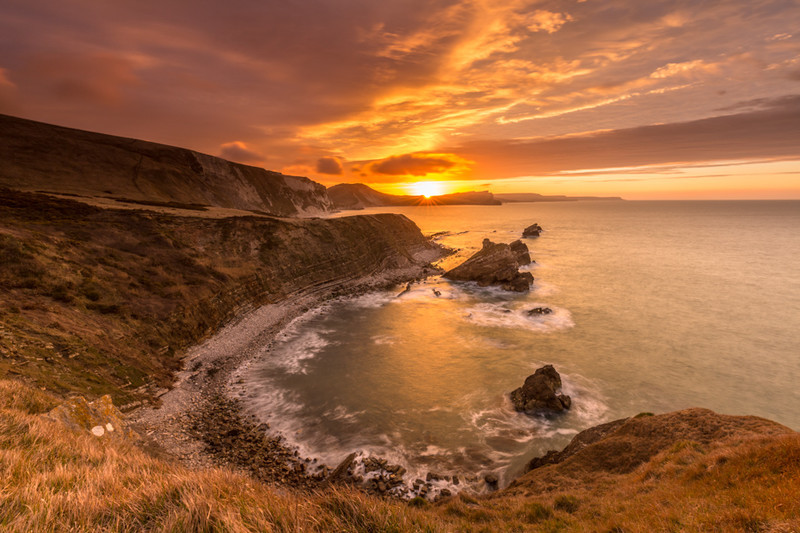 Mupe Bay Spring Sunrise, Dorset - Dorset Seascapes