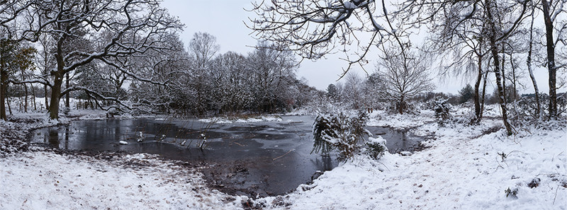 Puddletown Snow Panorama, Dorset - January 2013 - Panoramas