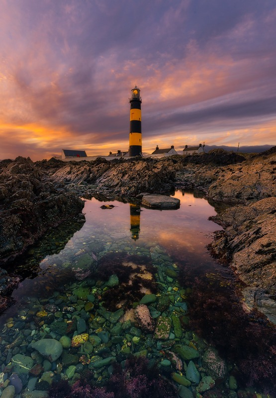 Lighthouse In A Rock Pool - Down
