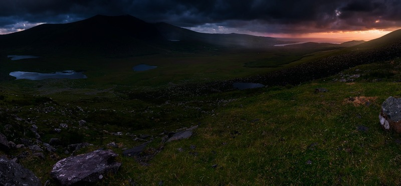 Conor Pass Sunrise - Panorama
