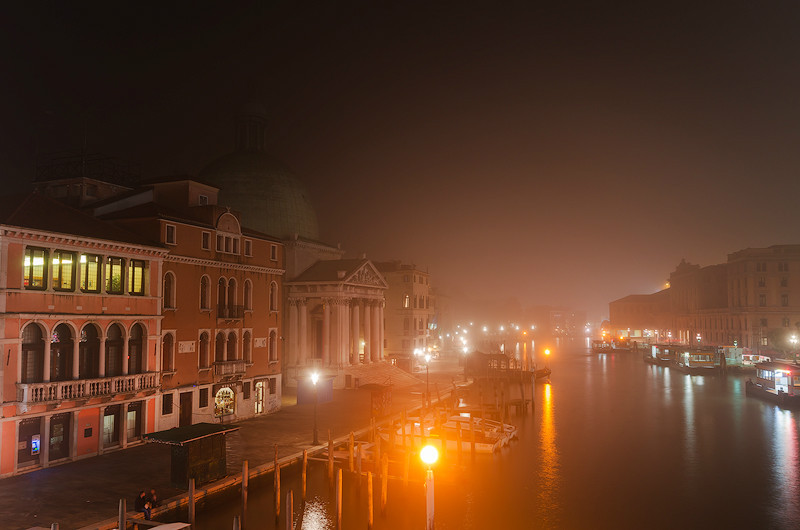 Night On The Canal - Venice