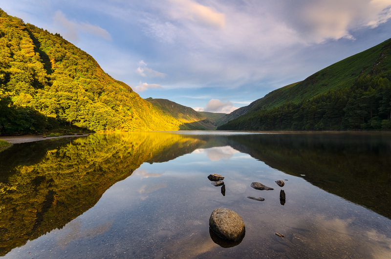 Morning on the Upper Lake - Wicklow