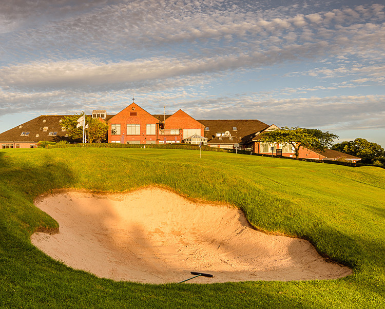 Bunker guarding the 18th green - The Tytherington Club