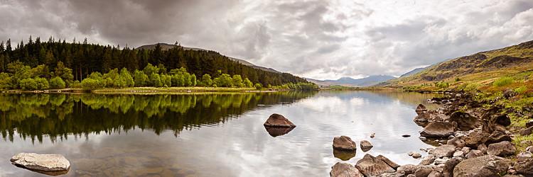 Llyn Mymbyr panorama - Wales