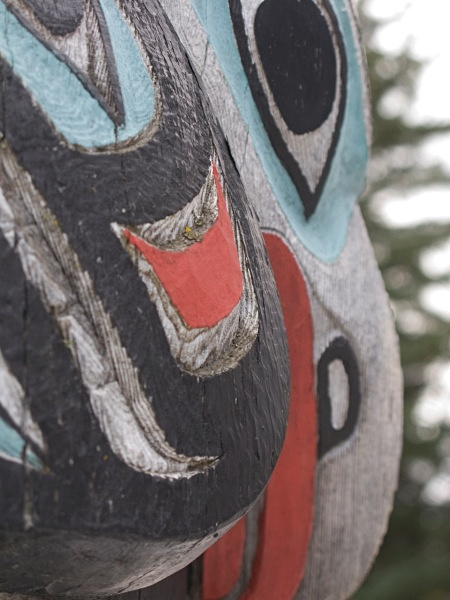 Totem Pole detail,3, Haines,IMG_9316 - Cityscapes