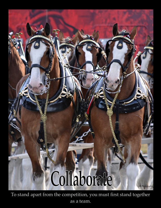 Collaborate Poster with Border 2 JULY 2016 - Inspirational Office & Classroom Art