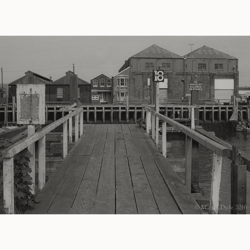 Newhaven Docks study 1 | The Silver Monochrome: black-and-white film photography by Martin Dyde