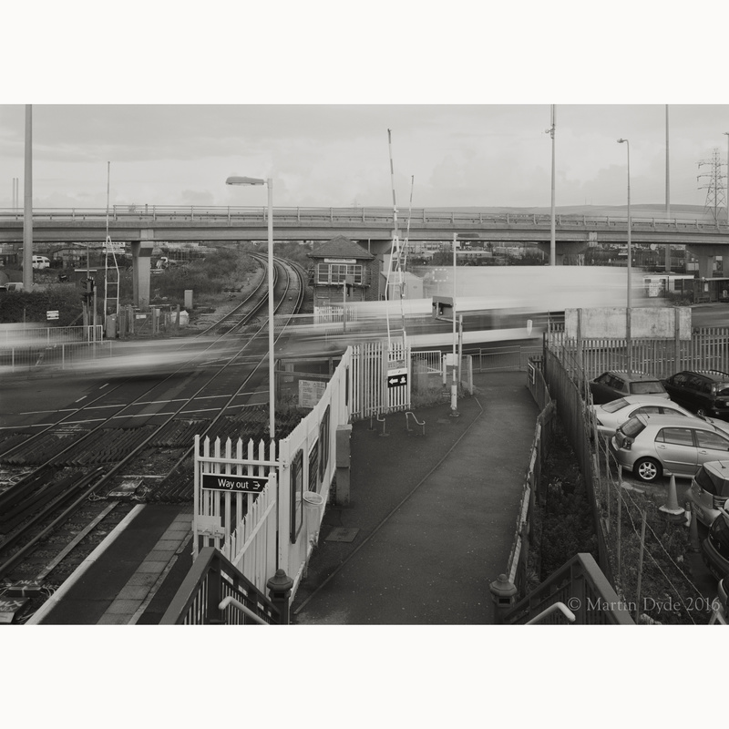 Signal box and flyover from Newhaven Station | The Silver Monochrome: black-and-white film photography by Martin Dyde