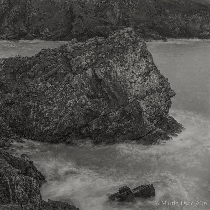 Cliff study 7, near Abercastle, St. Davids Peninsula, Pembrokeshire, Wales | The Silver Monochrome: black-and-white film photography by Martin Dyde