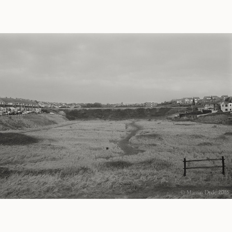 Looking inland from Seaford Seafront | The Silver Monochrome: black-and-white film photography by Martin Dyde