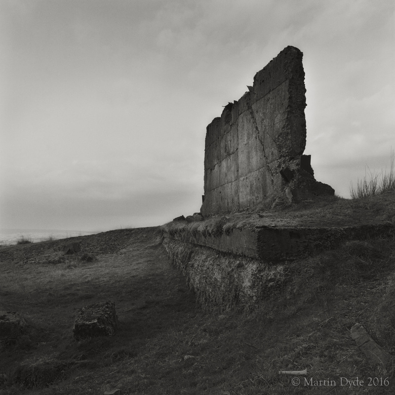 Derelict quarry building and bone, Fan Bwlch Chwyth, Brecon Beacons, Wales | The Silver Monochrome: black-and-white film photography by Martin Dyde