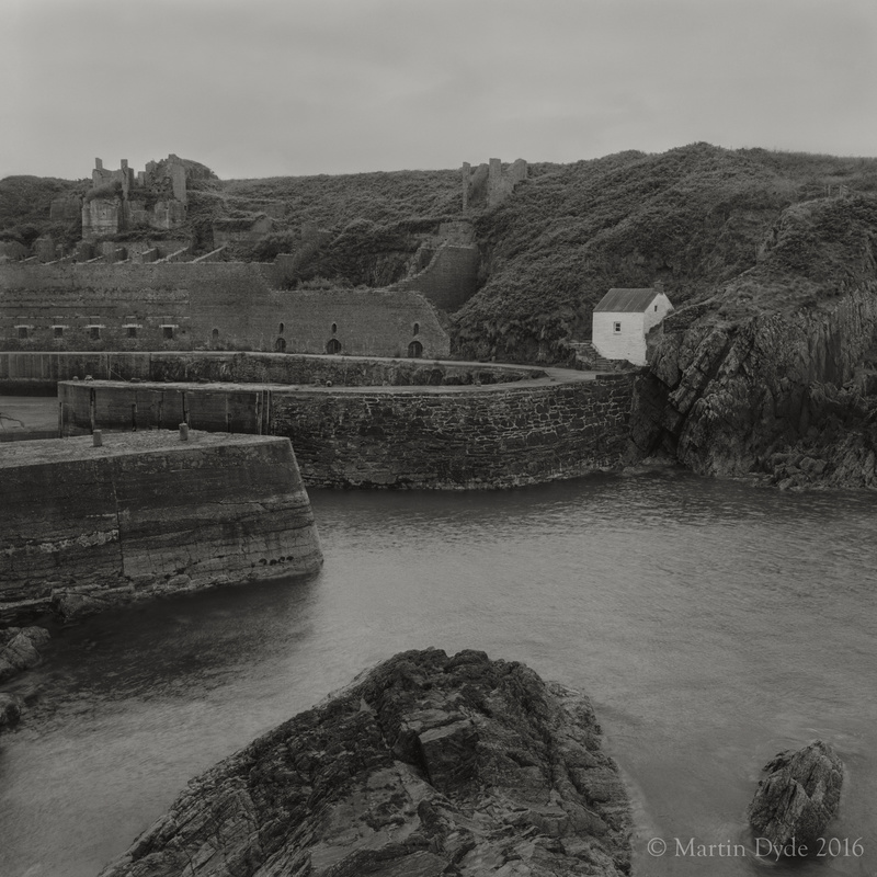 Cliff study 13, Porthgain Harbour Entrance, St. Davids, Pembrokeshire | The Silver Monochrome: black-and-white film photography by Martin Dyde