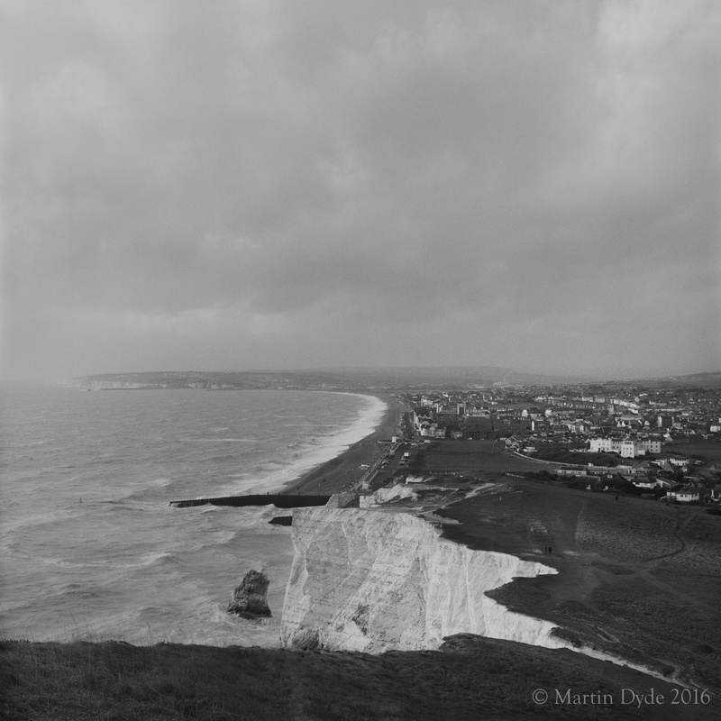 Seaford Town from Seaford Head | The Silver Monochrome: black-and-white film photography by Martin Dyde