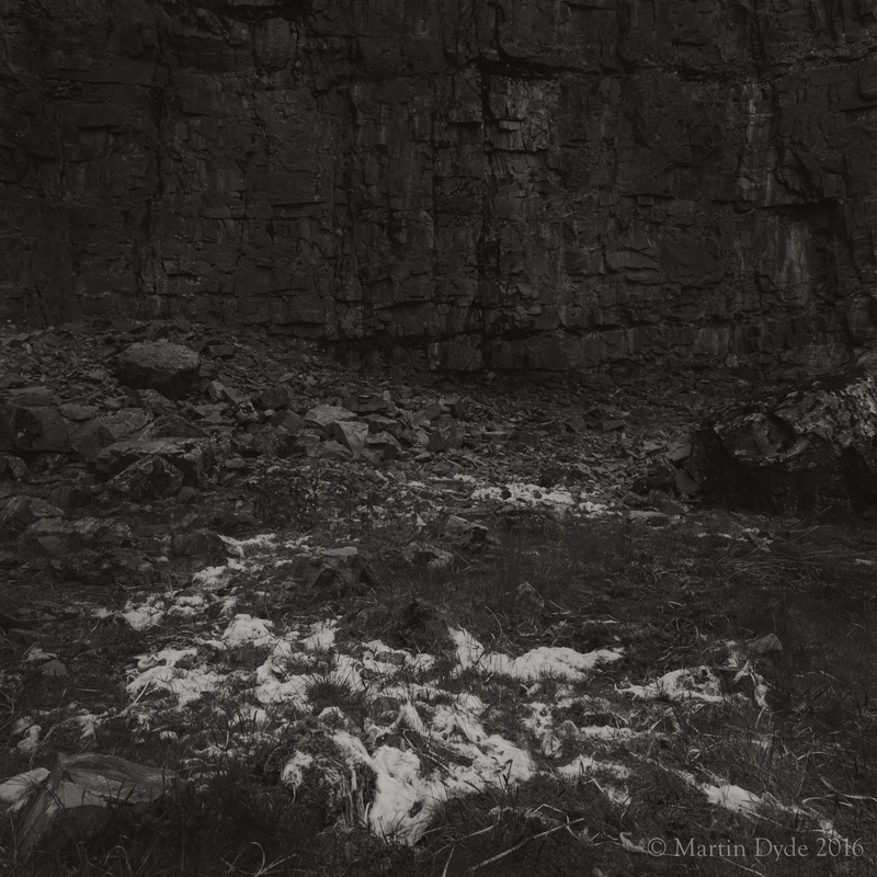 Remains of fallen sheep in disused quarry 3, Fan Bwlch Chwyth, Brecon Beacons | The Silver Monochrome: black-and-white film photography by Martin Dyde