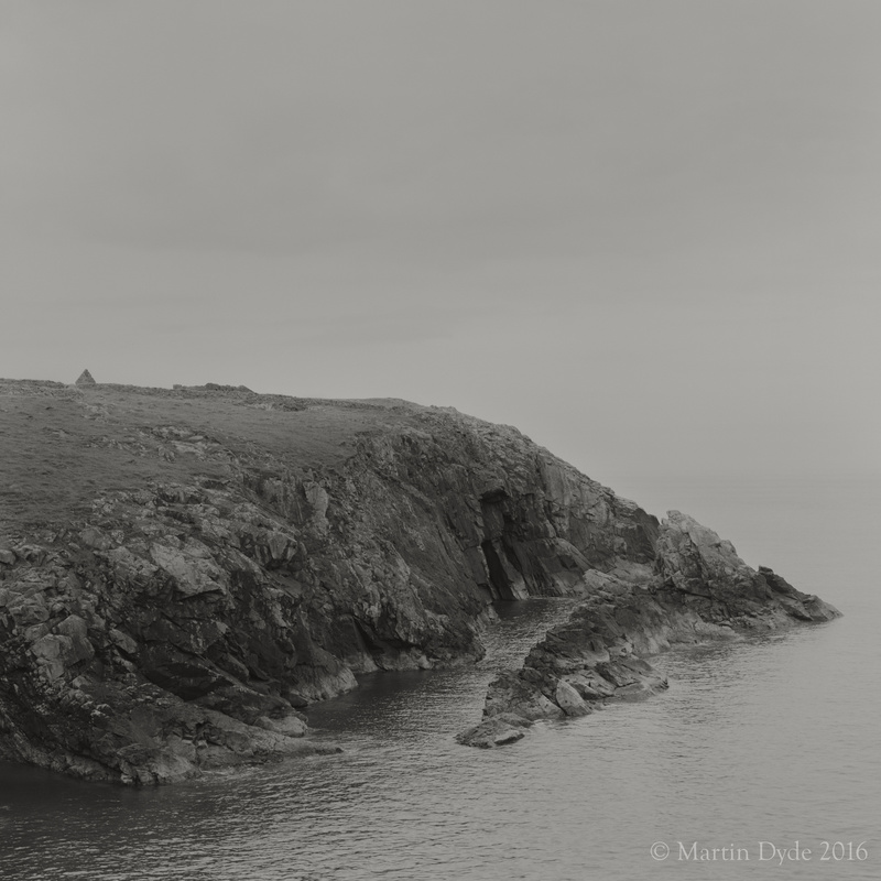 Cliff study 12, Porthgain, St. Davids Peninsula, Pembrokeshire, Wales | The Silver Monochrome: black-and-white film photography by Martin Dyde
