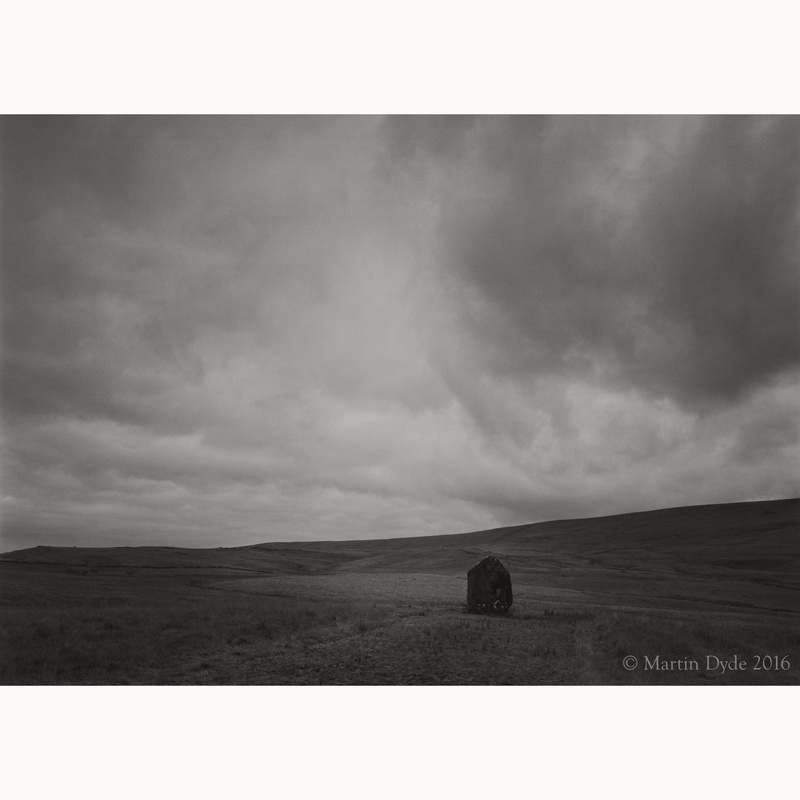 Maen Llia standing stone study 2, Brecon Beacons, Wales | The Silver Monochrome: black-and-white film photography by Martin Dyde