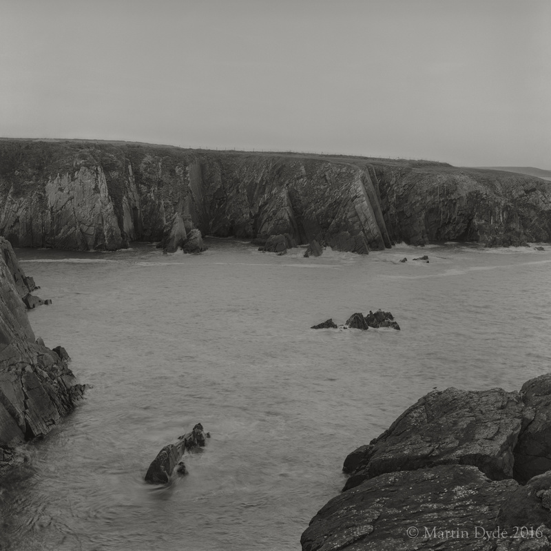 Cliff study 3, Porthclais, St. Davids Peninsula, Pembrokeshire, Wales | The Silver Monochrome: black-and-white film photography by Martin Dyde