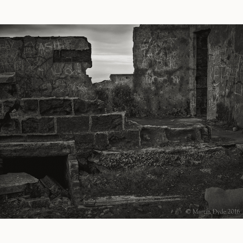 Derelict quarry building, Foel Fawr, Black Mountain, Brecon Beacons, Wales | The Silver Monochrome: black-and-white film photography by Martin Dyde
