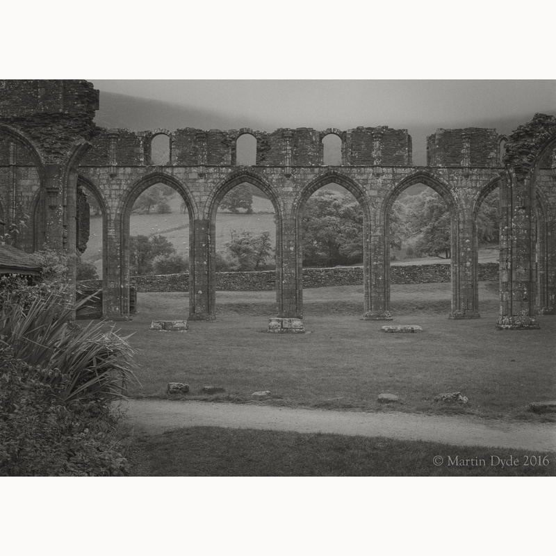 Llanthony Priory study 5, Black Mountains, Wales | The Silver Monochrome: black-and-white film photography by Martin Dyde
