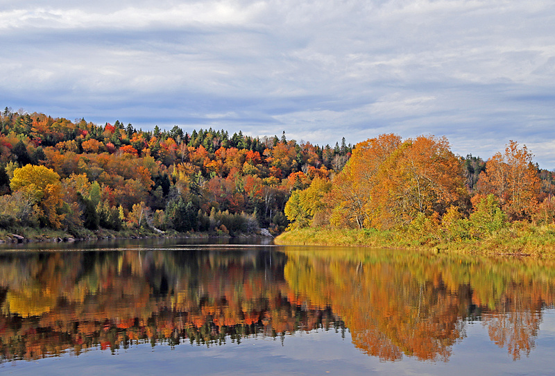 Hammond River Autumn Foliage Fall Colors New Brunswick Canada - New Brunswick Autumn Foliage