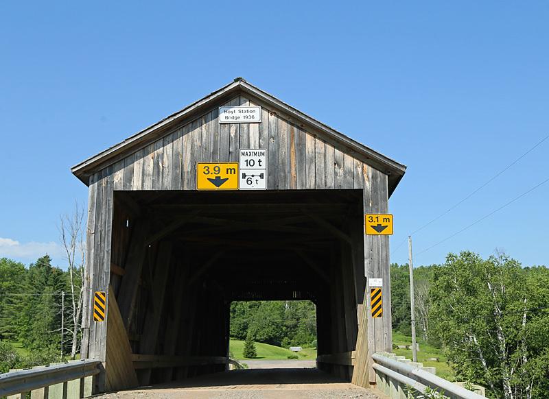 Hoyt Station Covered Bridge New Brunswick Canada - Covered Bridges of New Brunswick