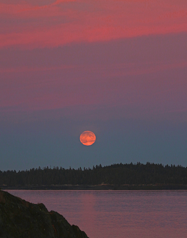 Full Moon Rising - Sunset/Moonrise