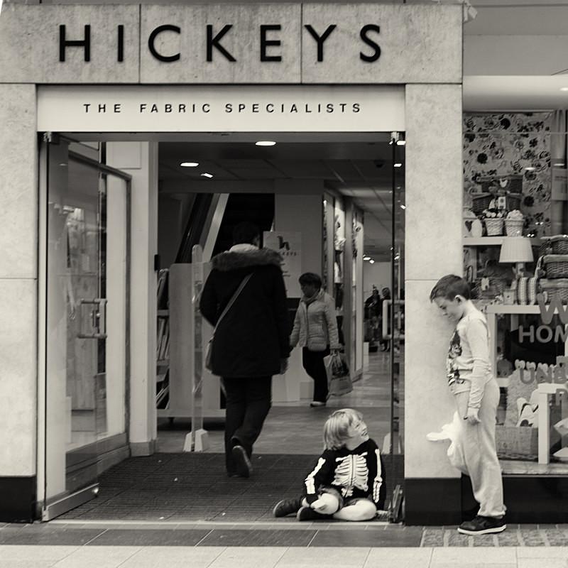 Boys playing outside hickeys - STREET ~ B&W