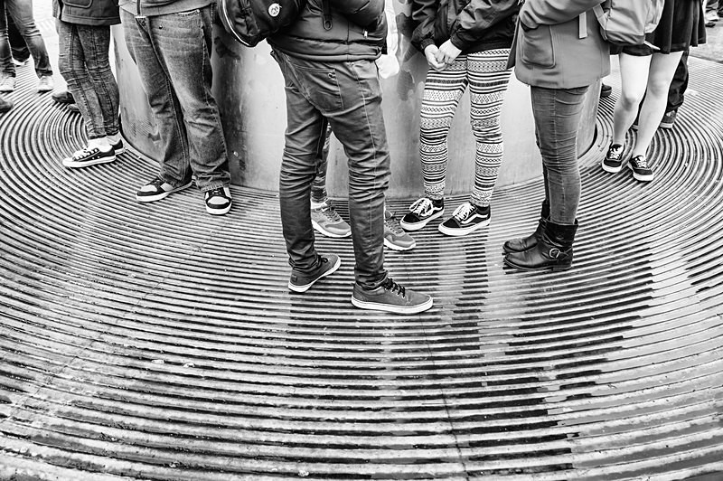 'At the Spire' - STREET ~ B&W